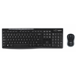 LOGITECH KIT WIRELESS TASTIERA E MOUSE MK270 BLACK